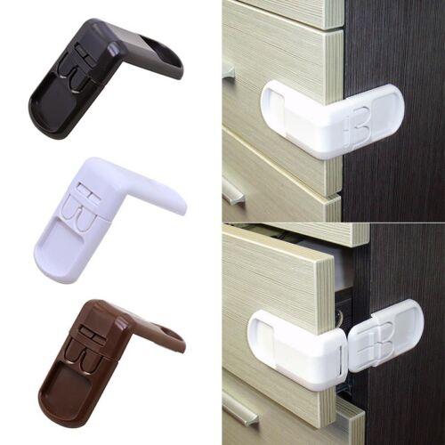 5x Kids Child Baby Proofing Safety Lock Door Fridge Cupboard Cabinet Drawer