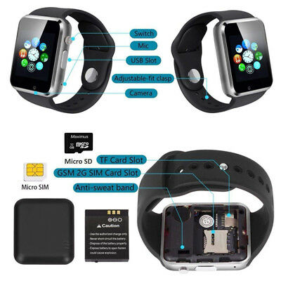 Bluetooth Smart Wrist Watch A1 GSM Phone For Android Samsung iPhone Man Women 4