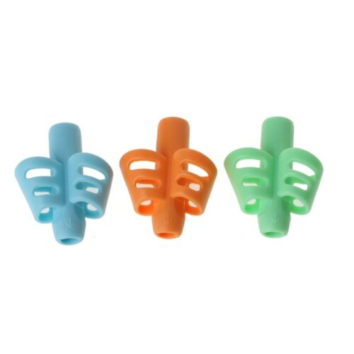 3Pcs Two-finger Grip Silicone Baby Pencil Holder Writing Learn Tools Writing Pen 2