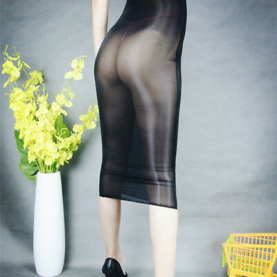 Women Glossy Oil Shiny Bodystocking See Through Sheer Bodysuit Tights Bodyhose 6