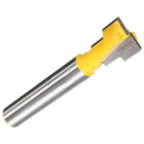 Nutfräser  Schaft 1/4'' Holzfräser  Fräser Nuter Freser T Bit Router Hartmetall