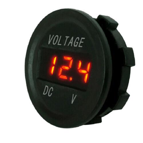 5-48V car marine motorcycle led digital voltmeter voltage meter battery gauge~OY 5