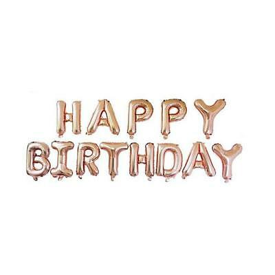 Rose Gold Happy Birthday Bunting Banner Balloons 18/21st/30/40/50/60 Party Decor 4