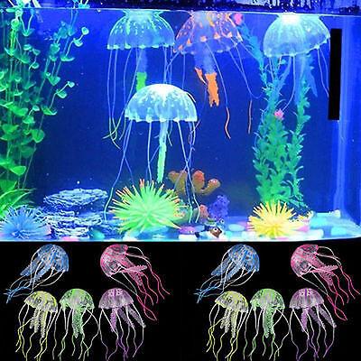 Decor Jellyfish Aquarium Decoration Artificial Glowing Effect Fish Tank Ornament 3