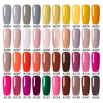 186 Classic Gel Nail Polish Soak off UV Gel  Salon Party Show Nude Pink 5