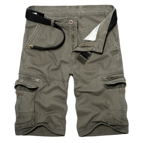 Mens Army Cargo Shorts Work Camping Fishing Camouflage Outdoor Pants Trousers 6