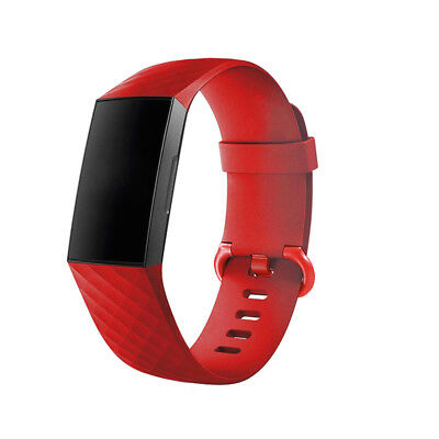 For Fitbit Charge 3 Watch Band Replacement Silicone Diamond Bracelet Wrist Strap 10