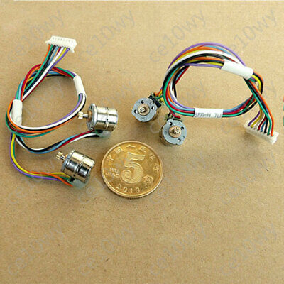 2x 8mm Mini Stepper Motor 2-phase 4-wire Micro Stepping Motor 0.2Mod 9T Gear 11