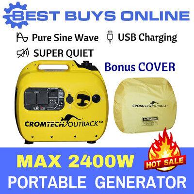 Inverter Generator Cromtech Pure Sine Wave 2.4 kVA Max Quiet, Portable Camping 5