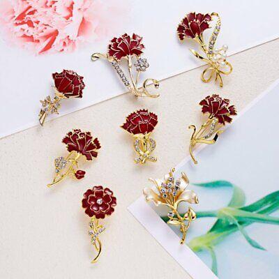 Fashion Rhinestone Crystal Flower Plant Bridal Bouquet Enamel Brooch Pin Jewelry 5