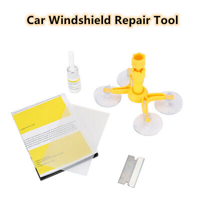 Windscreen Windshield Repair Tool Set DIY Car Kit Wind Glass For Chip Crack Fix 2