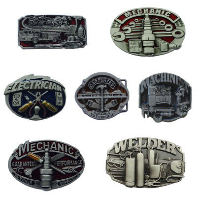 Western Men's Alloy Leather Belt Buckle Vintage Cowboy Pattern 38/40MM 8