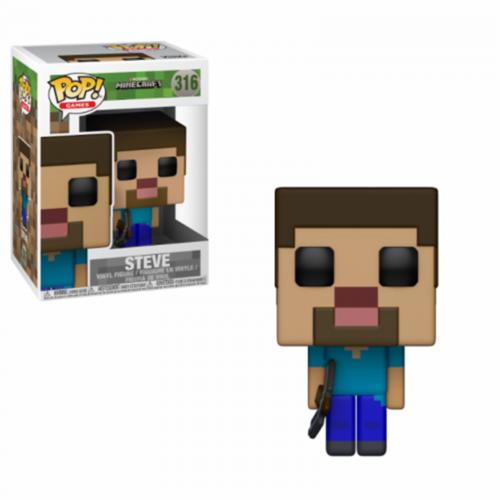 Minecraft Steve in Diamond Armor Action Figures Funko Pop! Model PVC Doll Toys U 5