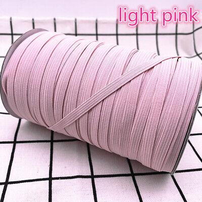 5yds 6mm Hight Elastic Bands Spool Sewing Band Flat Elastic Cord diy Sewmaterial 12
