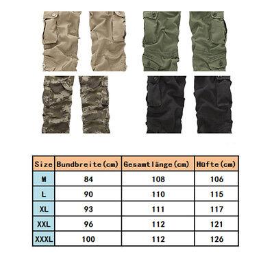 Herren Airborne Army Frachtschlauch*Cargo Pants Jeans Hose Camouflage Streetwear