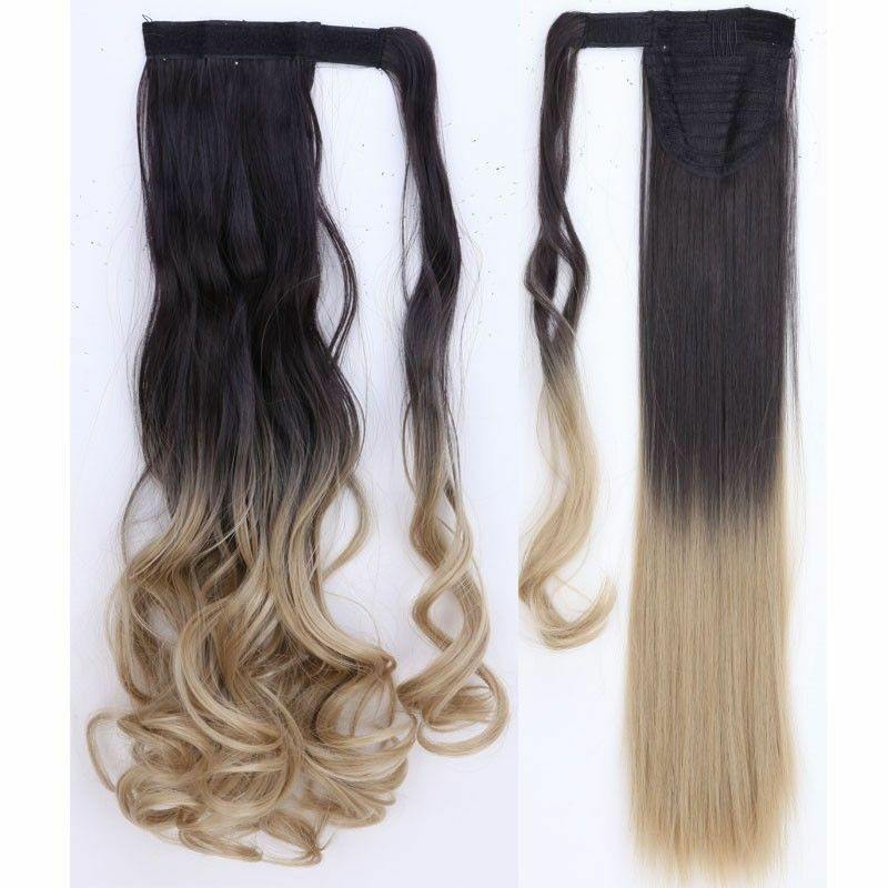 Us Lady New Clip In Hair Extension Pony Tail Wrap Around Ponytail As