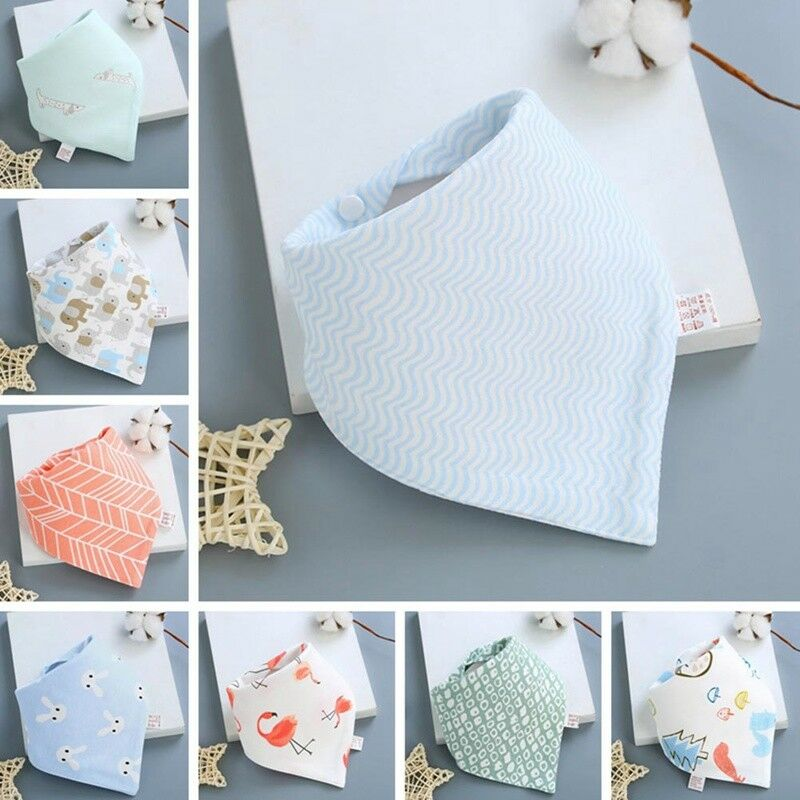 Infant Baby Boy Girl Cotton Bandana Bibs Feed Saliva Towel  Dribble Triangle 4