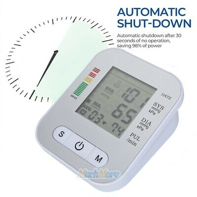 Automatic Digital LCD Arm Cuff Blood Pressure Pulse Monitor Sphgmomanometer NEW 6