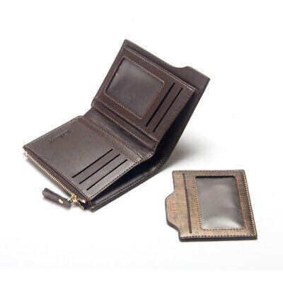 Men Leather Wallet ID Credit Card Holder Clutch Bifold Pocket Zipper Coin Purse 11
