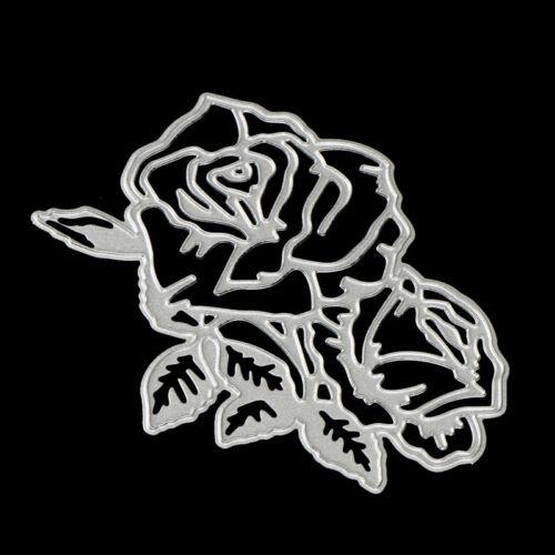 rose flower metal cutting dies stencil scrapbook album paper embossing craf S* 6