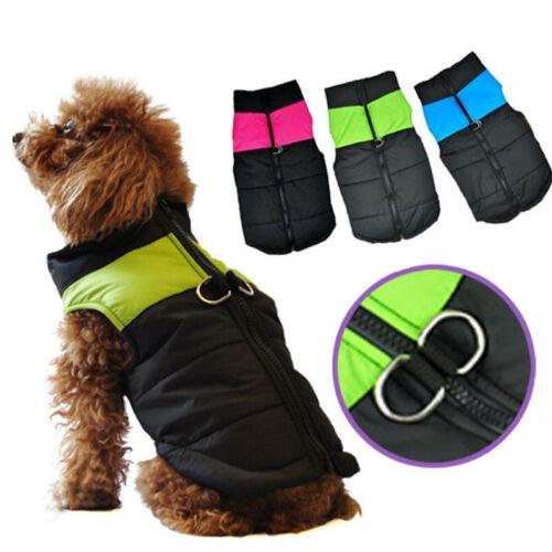 Waterproof Pet Dog Clothes Autumn Winter Warm Padded Coat Vest Jackets Apparel 4