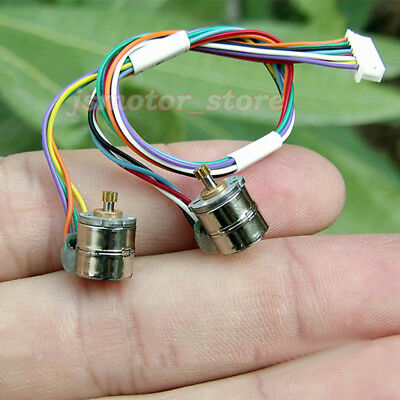10PCS 2-Phase 4-Wire Mini 8mm Stepper Motor Stepping Motor Metal Copper Gear DIY 6