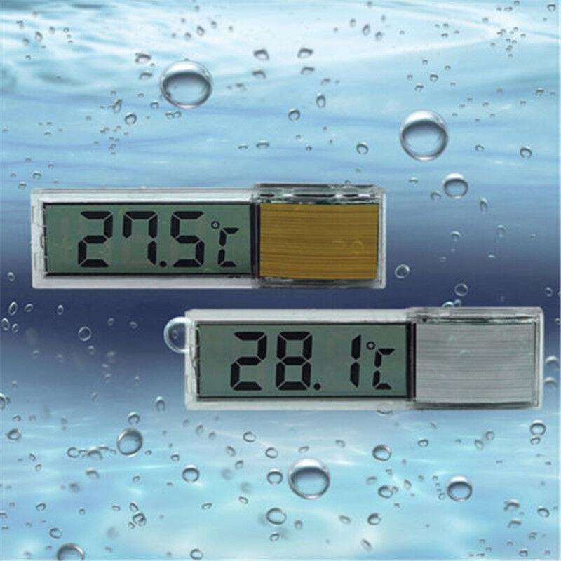 1pc LCD 3D Crystal Digital Measurement Fish Tank Reptile Aquarium Thermometer 3