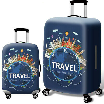 """Elastic Luggage Cover Dustproof 18""""-32"""" Thicker Suitcases Trolley Protector Case 5"""