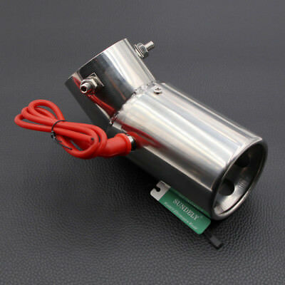 Universal Car Auto SUV LED Exhaust Pipe Spitfire Red Light Flaming Muffler Tip