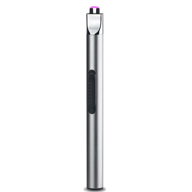 Electric USB Rechargeable 2 Arc Long Handle Kitchen Windproof Flameless Lighter 8