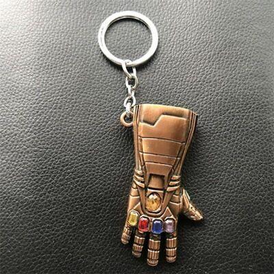 US! Iron Man Infinite Gauntlet Key Ring Avengers Endgame Tony Stark Keychain 7