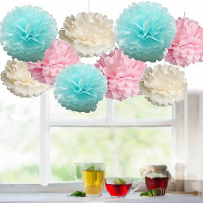 Baby Shower Boy Girl Decorations Set Sashes Balloon Bunting Photo Props Pompoms 8