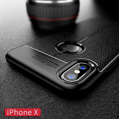 For iphone Xs Max Xr X 8 7 6S Silicone Rubber TPU Leather Slim Back Cover Case 2