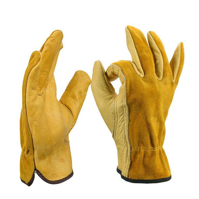Heavy Duty Gardening Gloves Thorn Proof Leather Work Gloves Waterproof 6