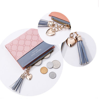 Fashion New Wallet Women Coin Bag Leather Lady Simple Bifold Small Handbag Purse 6