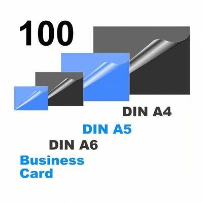 OLYMPIA 100er Laminierfolien-Set 80 Mikron DIN A4-A5-A6-Visitenkarte 2