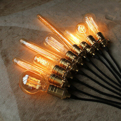 Vintage Retro Filament Edison Antique Industrial Style Lamp Light Bulb E27 40W 12