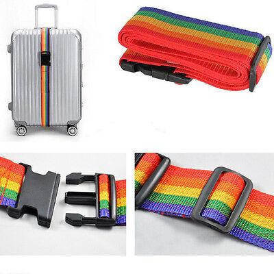 Rainbow Belt Travelling Backpack Bag Luggage Suitcase Straps Adjustable Baggage 10