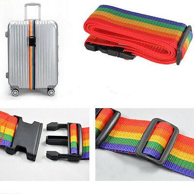 Rainbow Travelling Backpack Luggage Suitcase Strap Adjustable Nylon Strapping 10
