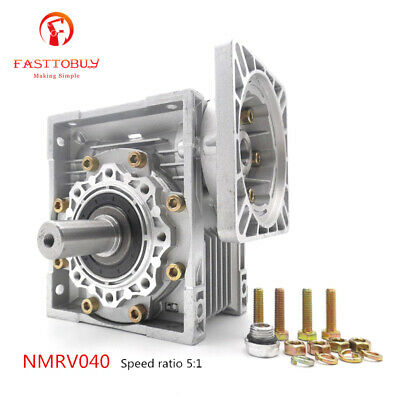 NMRV040 Worm Gearbox Geared Speed Reducer 14mm Input for 60/80/86/90 Motor 2