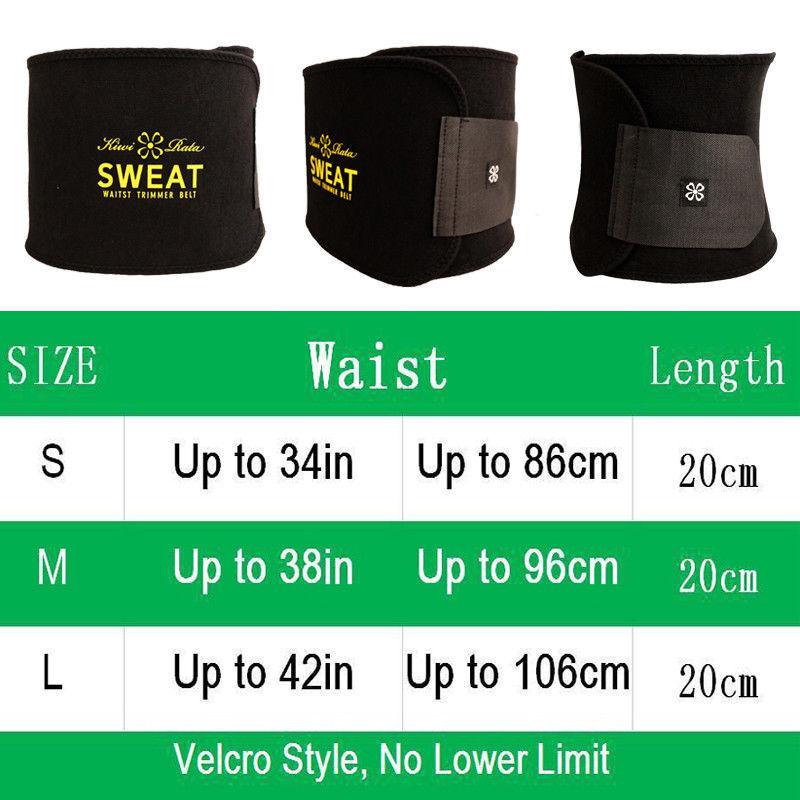 Neoprene Waist Trainer for Men&Women Sport Gym Sweat Slimming Belts Body Shaper 2