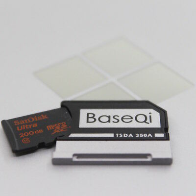 "BaseQi Aluminum MicroSD Adapter for Microsoft Surface Book/Surface Book 2 13.5"" 3"