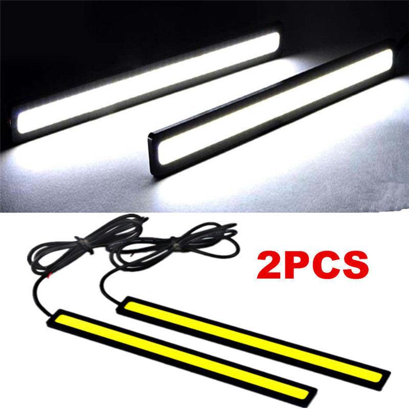 2x Super Bright COB White Car LED Lights for DRL Fog Driving Lamp Waterproof 12V 7