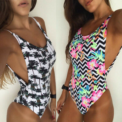 Women's One Piece Monokini Push Up Padded Bikini Swimsuit Swimwear Bathing Suit