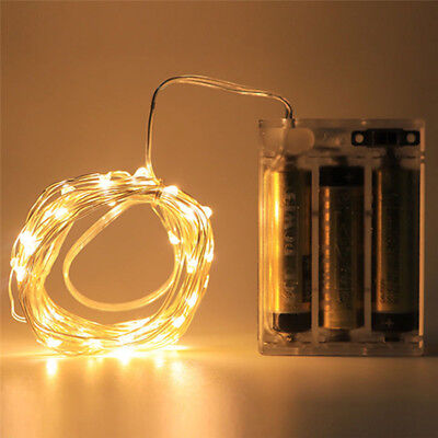 20/30/100 LED Battery Micro Rice Wire Copper Fairy String Lights Party white/rgb 7