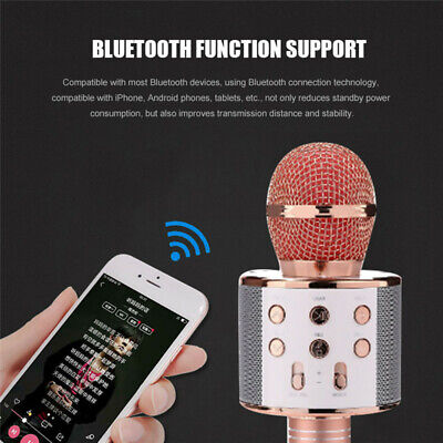 UK Karaoke Microphone Wireless bluetooth Handheld Mic KTV USB Speaker Player 2