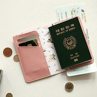 Animals Flower Faux Leather Passport Holder Cover Travel Wallet Organize Bag BS 11