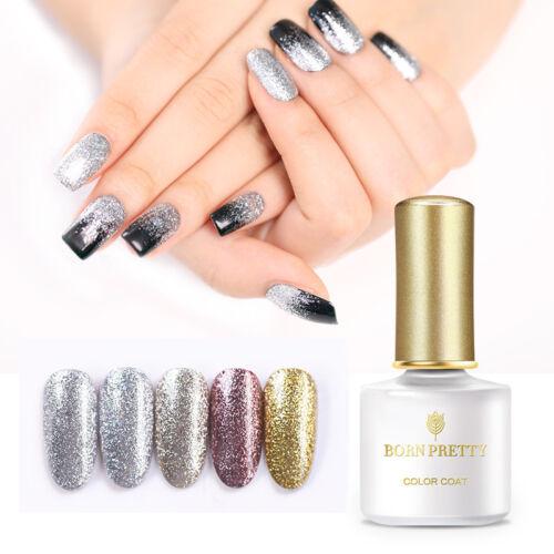 BORN PRETTY UV LED Glitter Sequins Gel Nail Polish Soak Off Topcoat Varnish 6ml 10