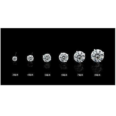 Fashion Woman Silver Plated Round Cubic Zirconia Crystal Stud Earrings Jewelry 12