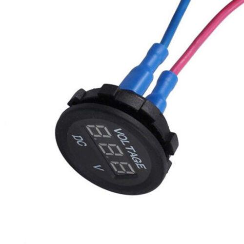 5-48V car marine motorcycle led digital voltmeter voltage meter battery gauge~OY 6